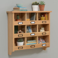 Best price modern furniture natural solid wooden wall unit