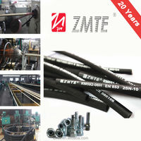 EN853 2SN oil with high temperature braid hydraulic tractor hose