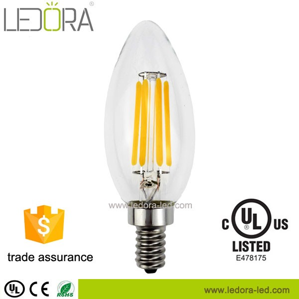 Energy Star UL approved dimmable 6w PF>0.9 e12 C35 led candle light