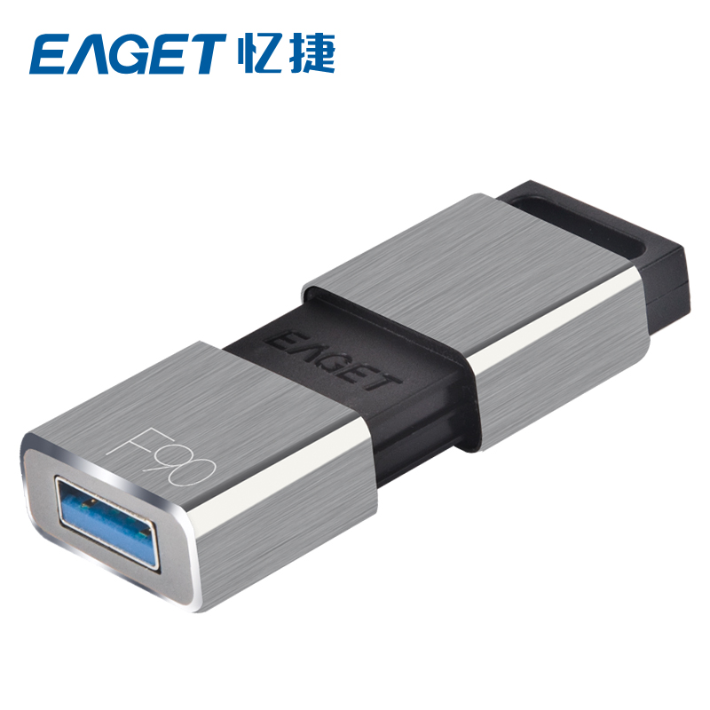 Eaget F90 creative business type usb 3.0 high speed silver metal 16gb 32gb 64g 128gb 256gb usb flash drive
