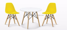 Hot Selling PP Seat Wood Leg Plastic chair for Kids