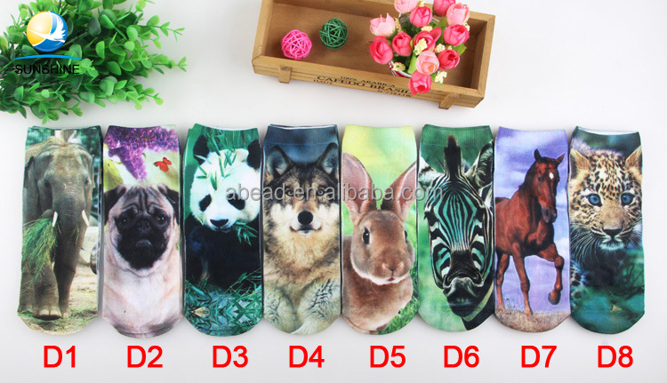 Low moq Wholesale 3d digital printed socks,custom print sublimation blank socks