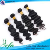 24h quick delivery wholesale 100% virgin brazilian hair extension sew in weave