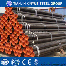 Building construction materials black erw types of mild steel pipe