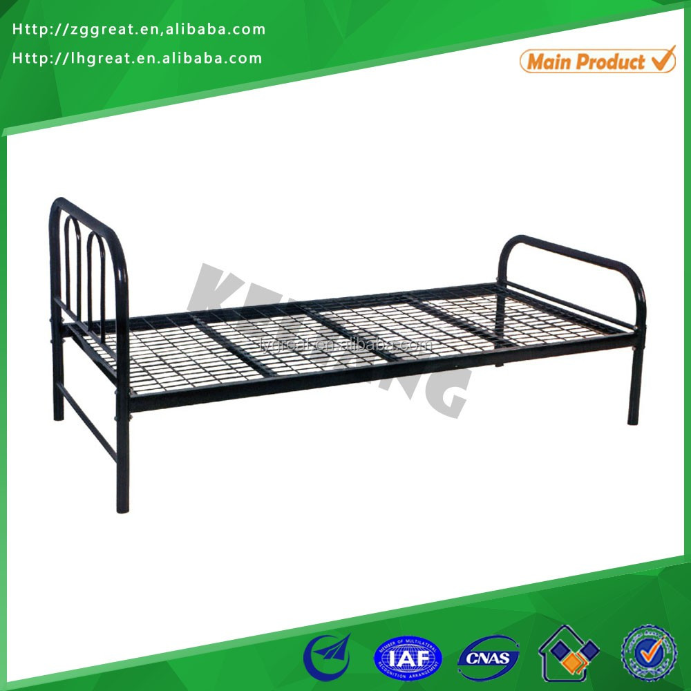 Latest single steel bed designs for bedroom furniture single bed mattress price