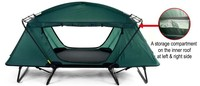 Off Ground tent with aluminum frame and water resistant capability Oversize
