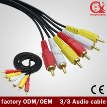 Good Quality High Quality Gold Connector RCA Audio Cable