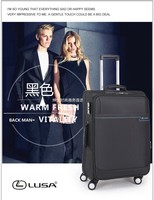 Wholesale upcale soft fabric trolley luggage
