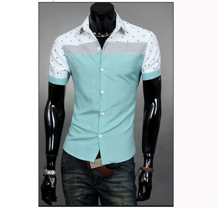 cotton polyester Hawaiian casual shirts for men shirt with muscles