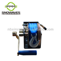 4500lbs Powder Marine Manual Hand-Crank Winch With Removable Handle