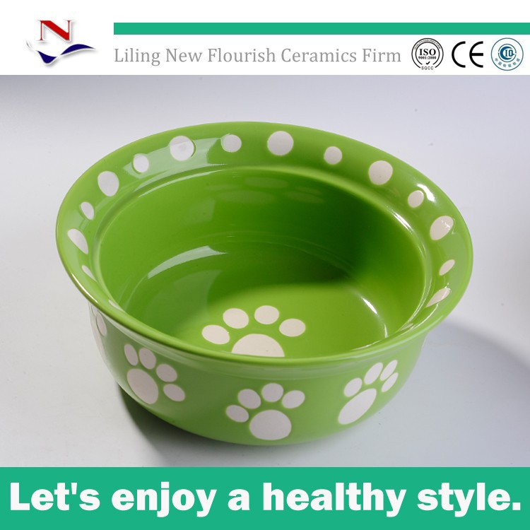 stoneware pet smart dog bowl