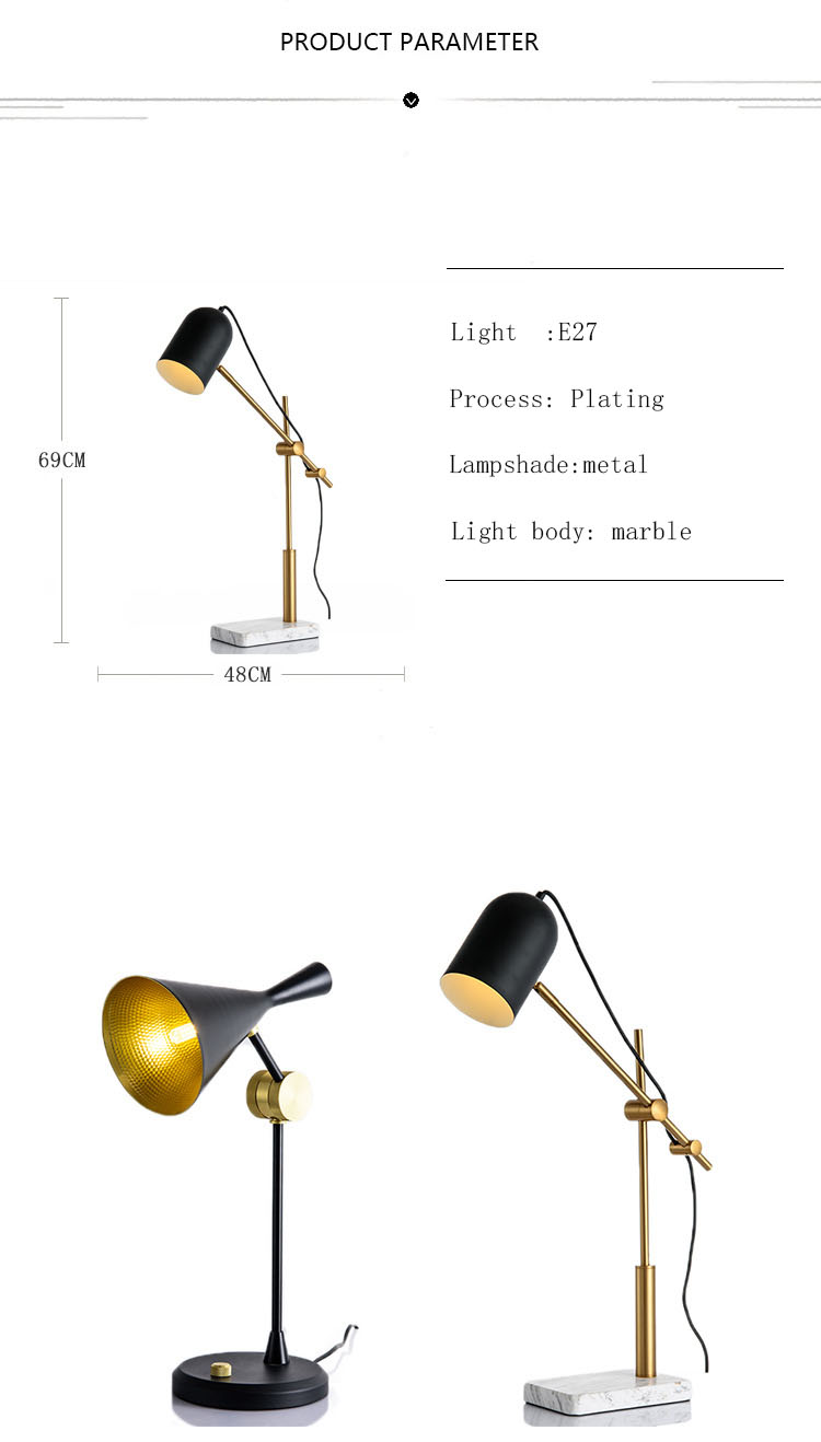 Nordic modern style black designer art classic ring hotel decorative table lamp