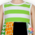 2017 Spring Newest Patchwork Pattern Outfit St.Patricks Day Girls Sleeveless Ruffle Clothes Wholesale Baby Children Clothes Set