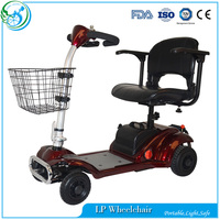 Handicapped Double Seat Electric Mobility 4 Wheel Scooter