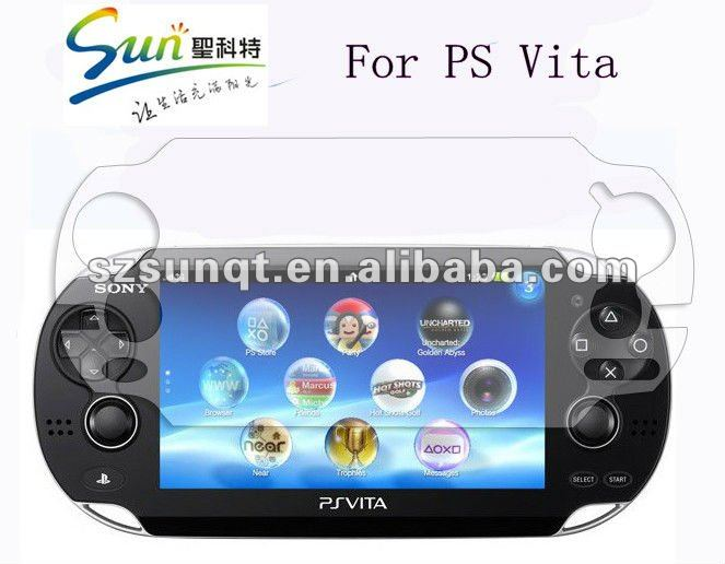Clear Front and Back Full Body Screen Protector/guard For Ps Vita