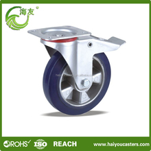 Aluminum iron Core Flat Free Tire Casters Wheel