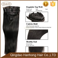 Alibaba High Quality Virgin Brazilian Malaysian Peruvian Indian Hair Wholesale Human Hair Clip In Hair Extension