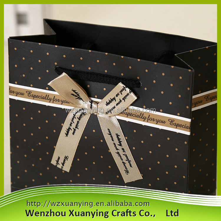 Top Quality Promotion luxury colored paper shopping bags