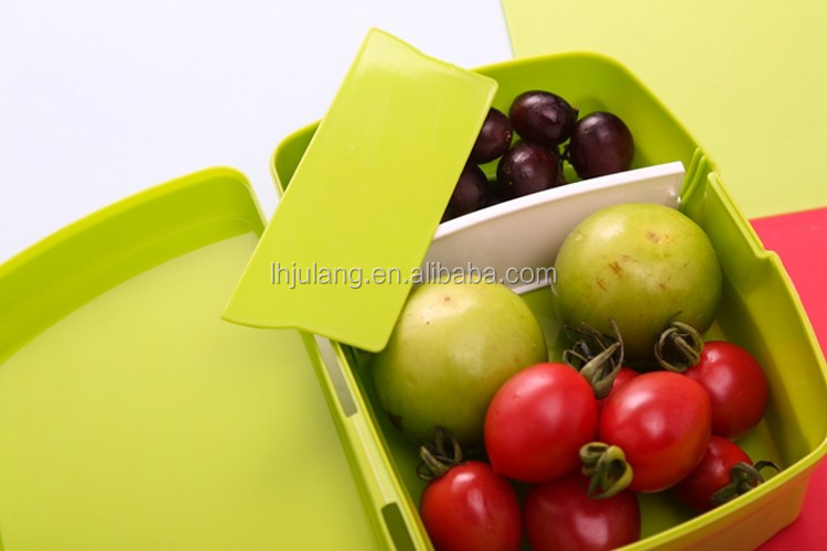 Promotional product Plastic lock daily lunch box 2 compartments for children