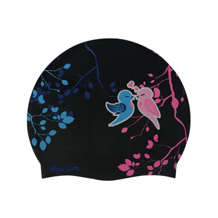 Popular Fully Waterproof Silicone Swimming Swim Cap For Keep Hair Dry