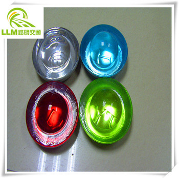 factory wholesale traffic safety IP68 flashing solar cat eyes reflective glass road stud