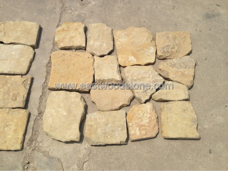 Chinese new yellow cream limestone wall