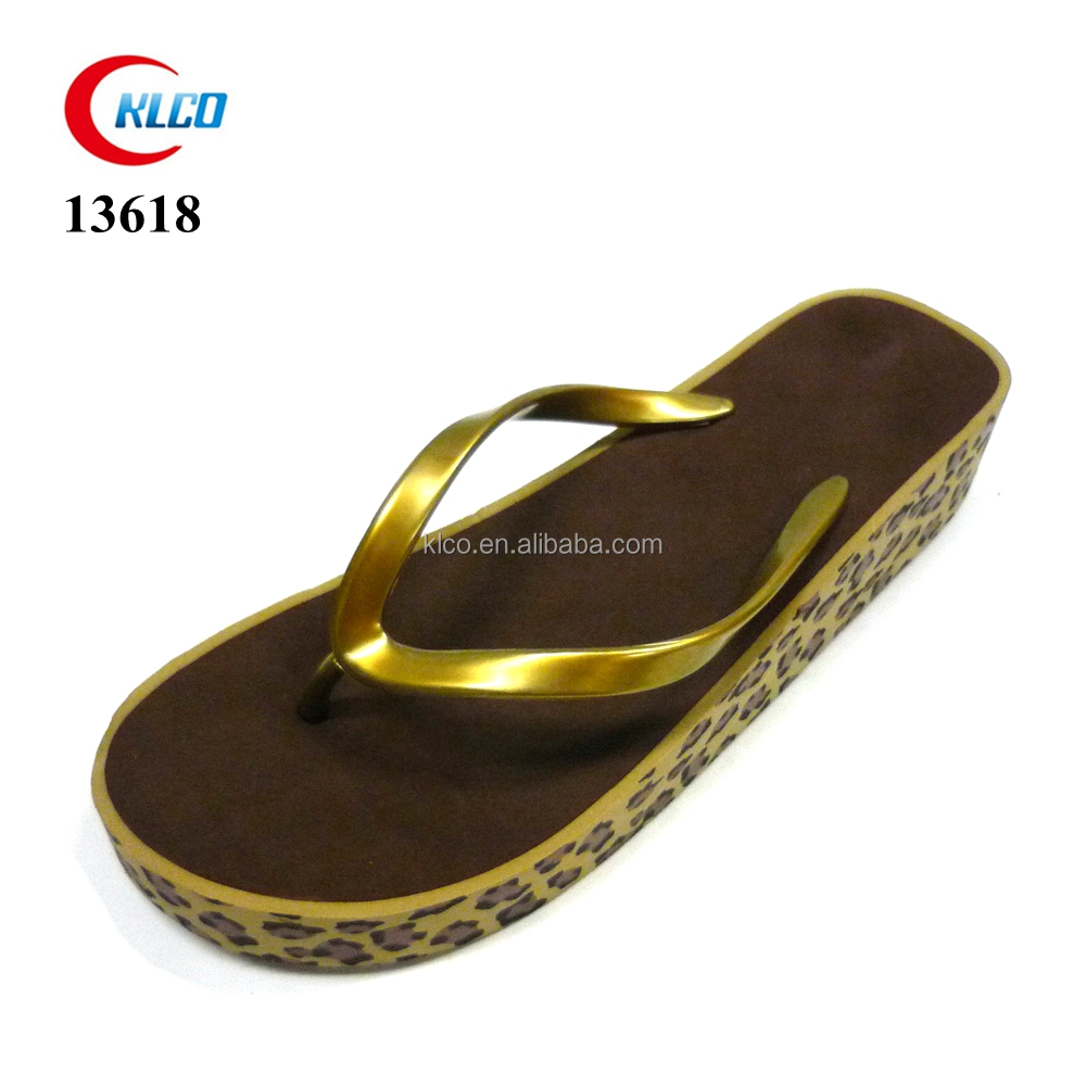 wholesale gold color high heels flip flops women