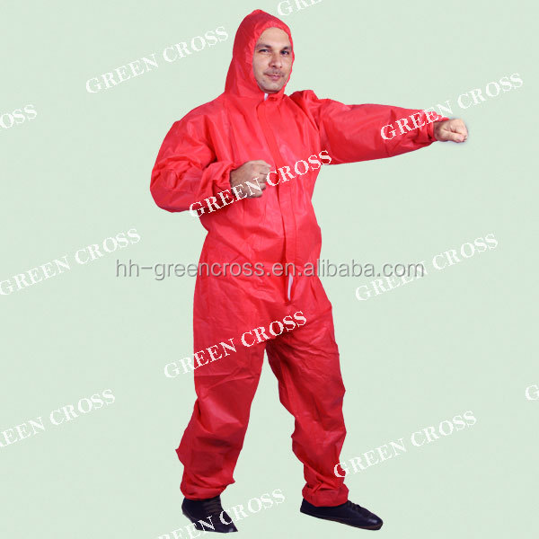 OEM EN Type 5 & 6.CrossGard 1000 Coverall --- Multi Ply SMS Fabirc ,specially offers wearers protection from liquid chemicals