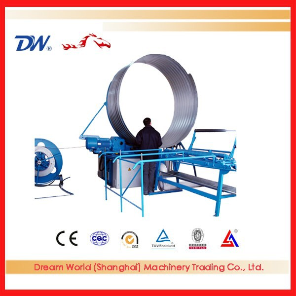 INT'L spiral tube forming machine,metal spiral pipe making machine,welded steel pipe forming machine with CE certificate