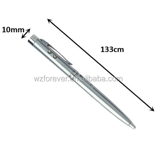 3 in 1 LED Light With Laser Pointer Pen