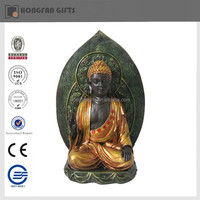 resin popular cheap gold buddha statue