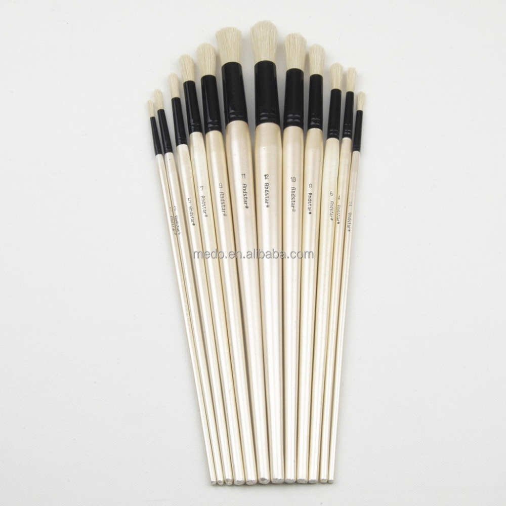 Art supplies best quality 100% bristle paint brush