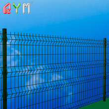 powder coated green color welded mesh metal fence panel