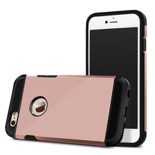 Rose Gold Slim Armor Shockproof Phone Case for Iphone 6/6S, Hybrid Armor Case for Iphone6
