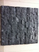 Natural cultured stone exterior black wall slate