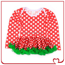 Fashion Design Baby Girl Birthday Dresses Small Girls Long Sleeve Polka Dots Dress Fancy Girls Party Dresses
