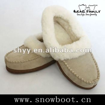 new design moccasins men's moccasins sheepskin moccasins