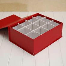 12 pcs red cupcake box with paper dividers