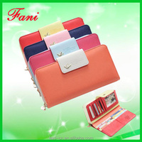 2015 new design PU leather money clip purse with high quality for women