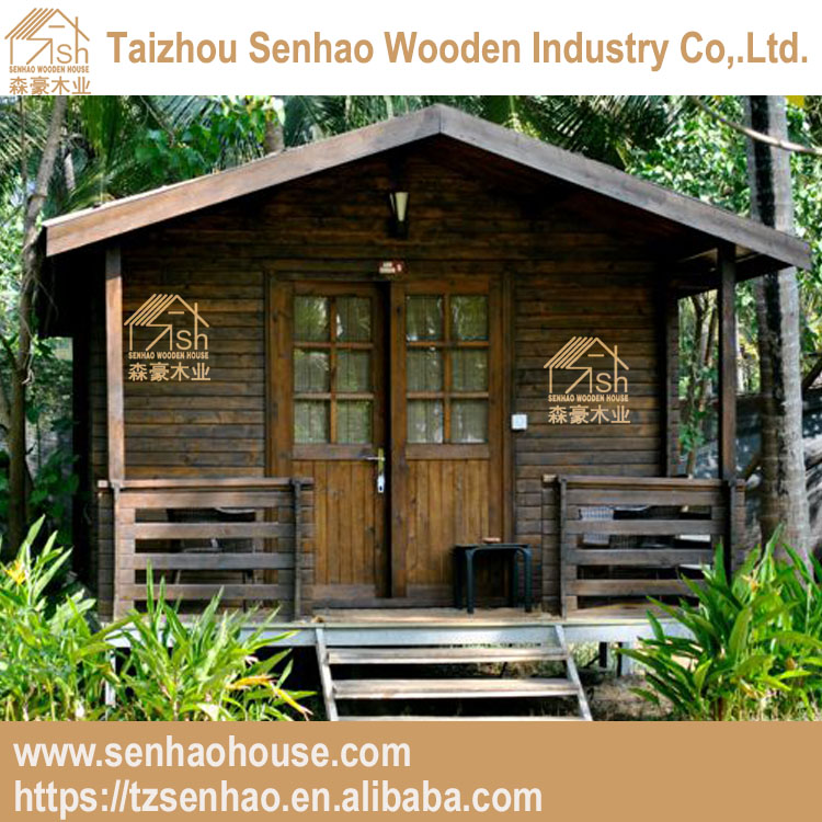 Luxury Two-bedroom Design Twin Log House/modern home designs/pine wooden house