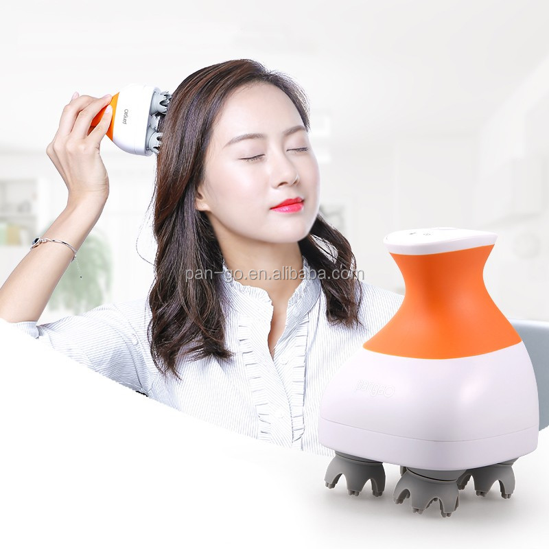 Environmental-friendly Waterproof Electric rubber scalp massager