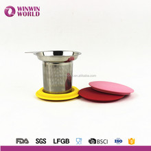 304 Stainless Steel Tea Infuser Perfect for Single Cup of Extra Fine Loose Leaf Tea-Brew-in-Mug Strainer Steeper