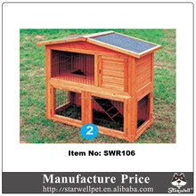 Factory export directly cheap handmade wooden rabbit hutch for sale