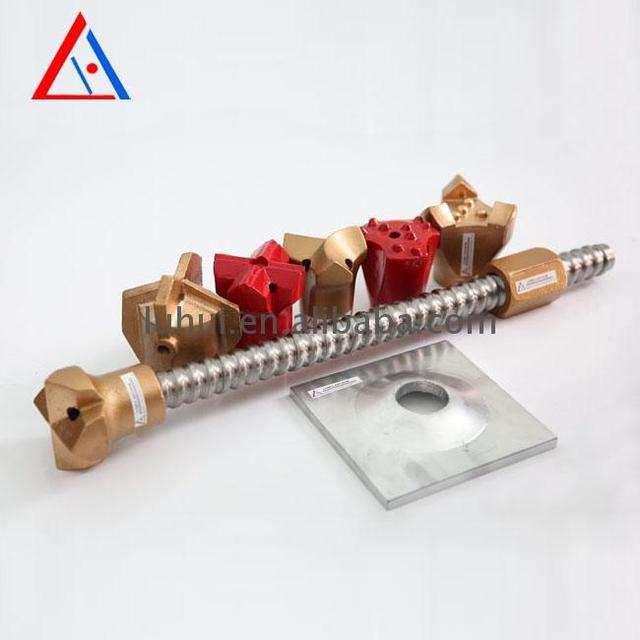 High quality cr40 steel material anchor bolts for reinforcing rock face