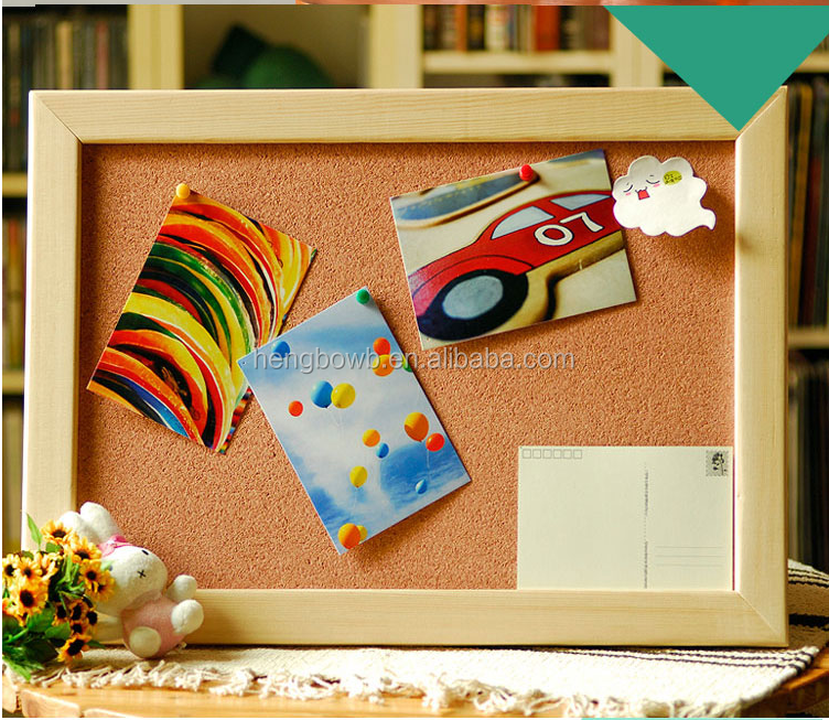 Soft 2mm cork board wooden frame 1.5*2cm Custom sized 40*60*90*120*240