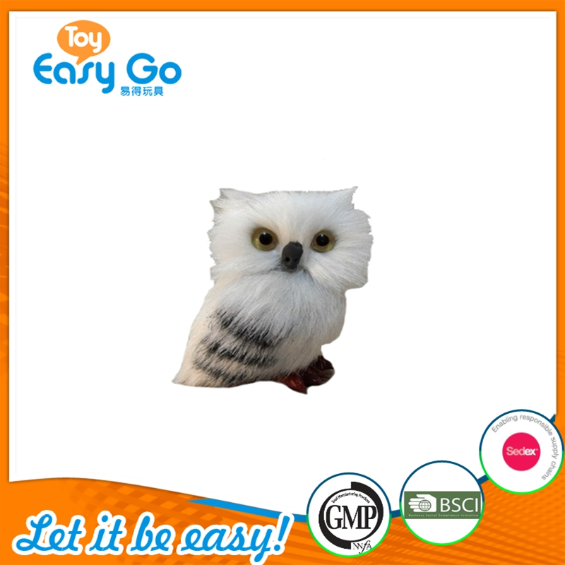 Hot Sale Soft Simulated White Standing Owl Toy Simulated Plush Animal Toy