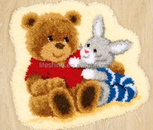 Hot selling Latch hook craft kit&DIY Latch hook rug embroidery