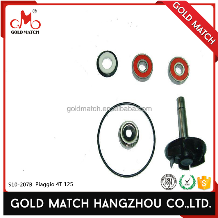 Alibaba China motorcycle parts water pump repair kit for s10-207b piaggio 4t 125