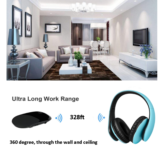 Foldable Home Theater Cinema One to Many Headphones Wireless HI-FI TV Headset YH680