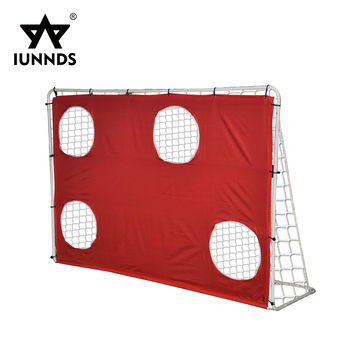 7 x 5 ft soccer goals training equipment football goal net with shooting targets